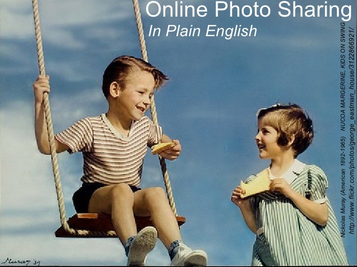 Online photo sharing in Plain English
