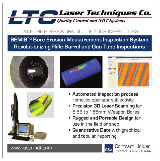 Laser Techniques Company Bore Erosion Measurement Inspection System