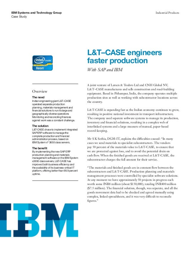 L&T–CASE engineers faster production