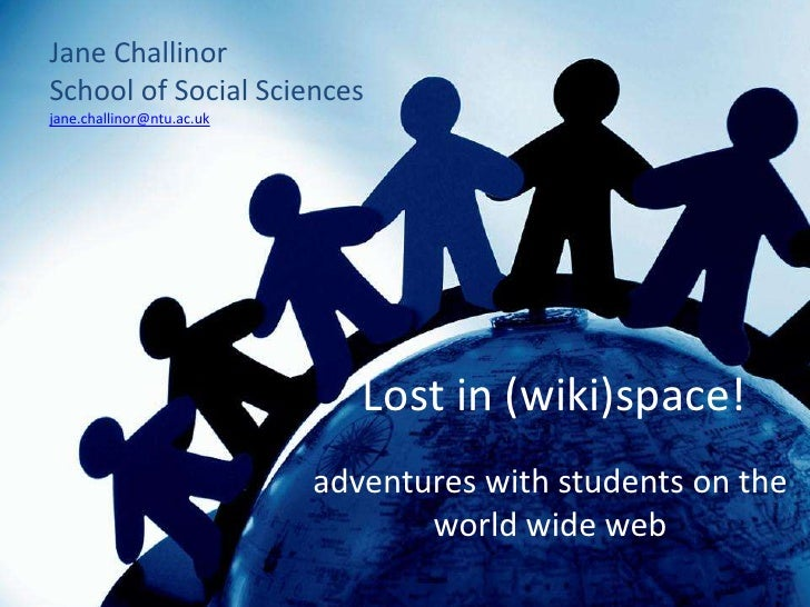 Lost in (wiki) space!