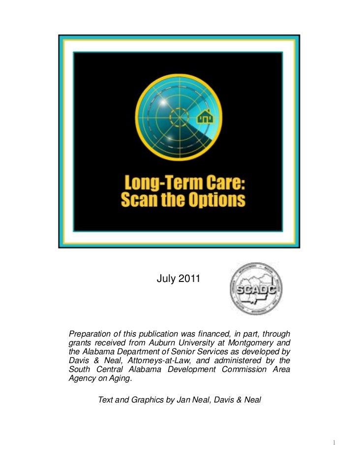 Long-Term Care: Scan the Options