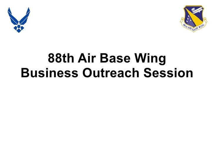 88th Air Base Wing Business Outreach Session