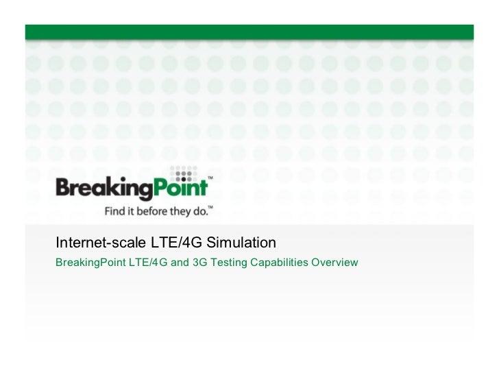 LTE Testing | 4G Testing