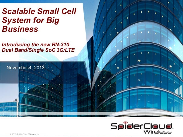 Scalable Small Cell System with Dual Band, Multi-Mode