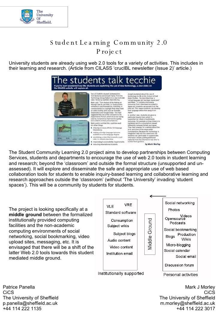 Ltea2008 Student Learning Community   Final Version