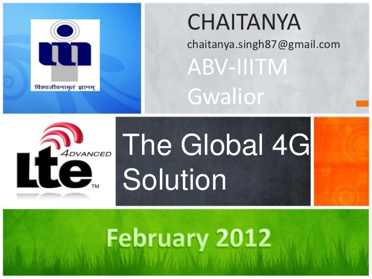 LTE Advanced - The Global 4G Standard