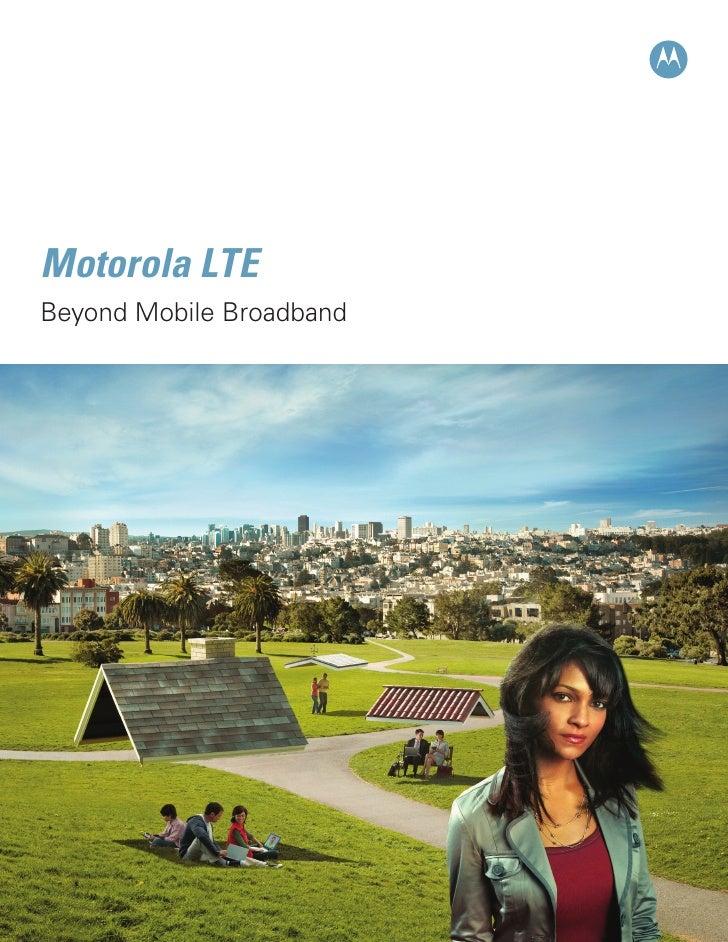 Beyond Mobile Broadband