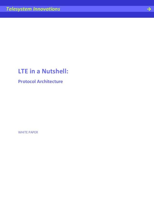 LTE in a Nutshell: Protocol Architecture