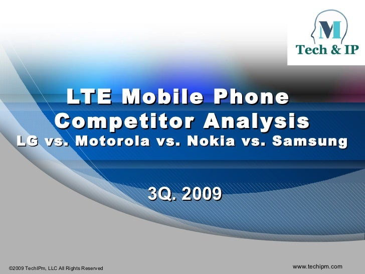LTE Mobile Phone Competitor Analysis 3Q 2009