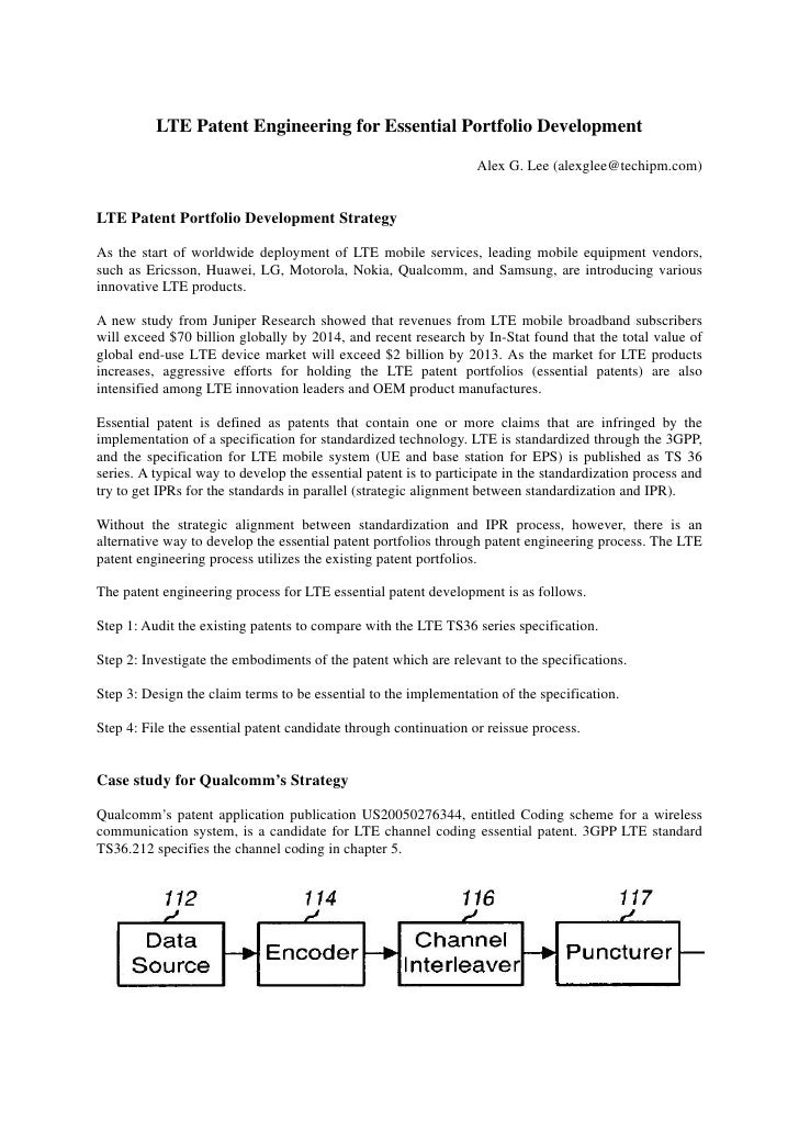 LTE Patent Engineering for Essential Portfolio Development: Case study for Qualcomm's Strategy