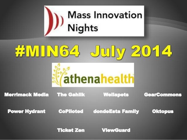 #MIN64 event slideshow