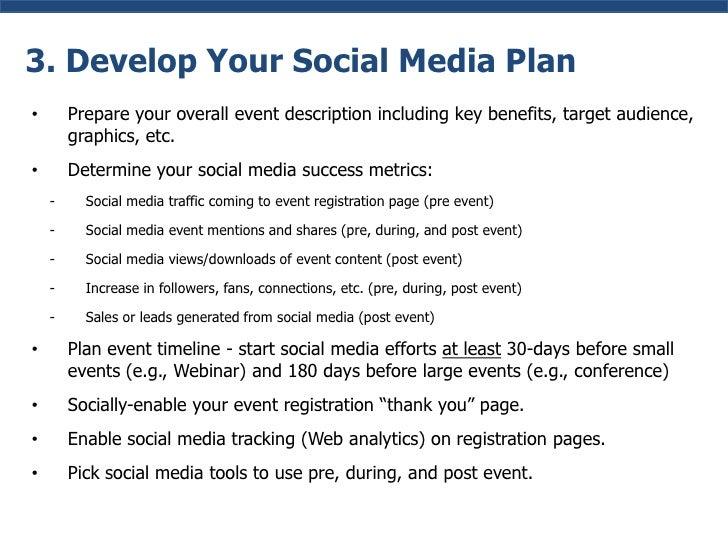 Event Social Media Plan Develop Your Social Media Plan