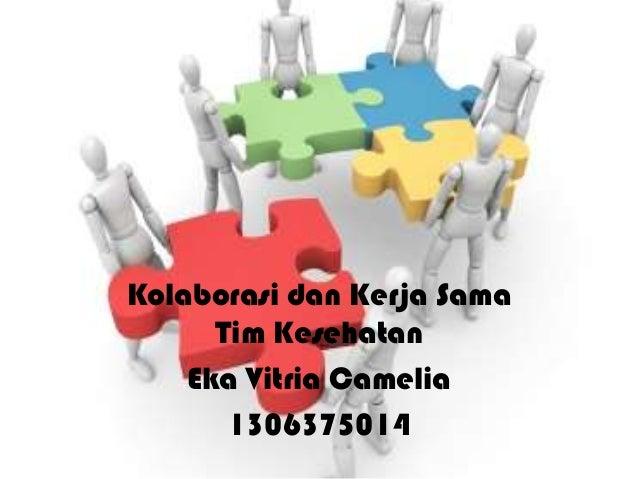 Kolaborasi dan Kerja Sama Tim Kesehatan Eka Vitria Camelia 1306375014