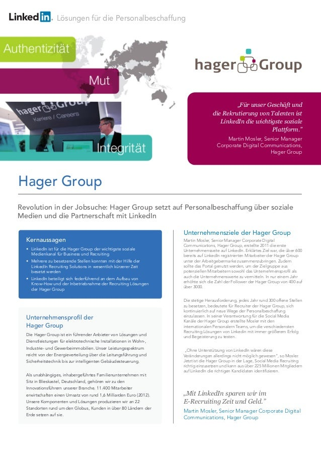 Lösungen für die Personalbeschaffung Unternehmensziele der Hager Group Martin Mosler, Senior Manager Corporate Digital Com...