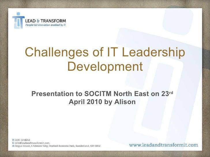 Lead & Transform Presentation to SOCITM NE 23 April 2010