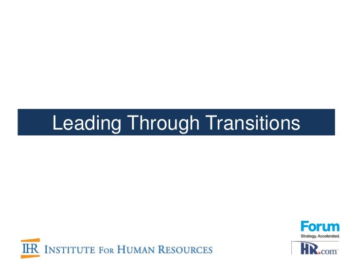 Leading Through Transitions webinar
