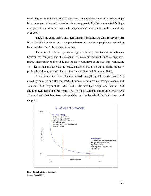 Relationship marketing master thesis