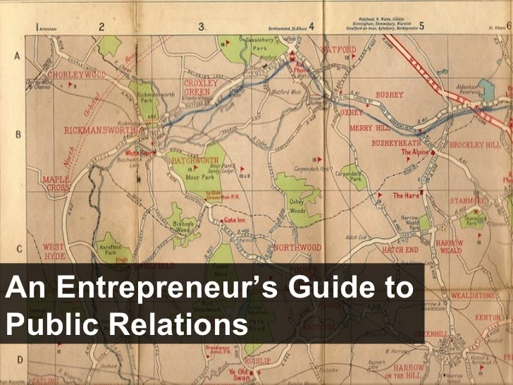 An Entrepreneur's Guide to Public Relations