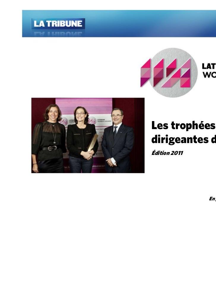 Les trophées desdirigeantes d'exceptionÉdition 2011               En partenariat avec