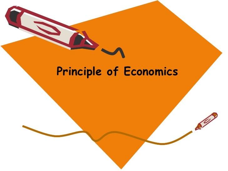 Principle of Economics<br />