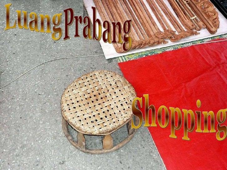 Luang Prabang Shopping