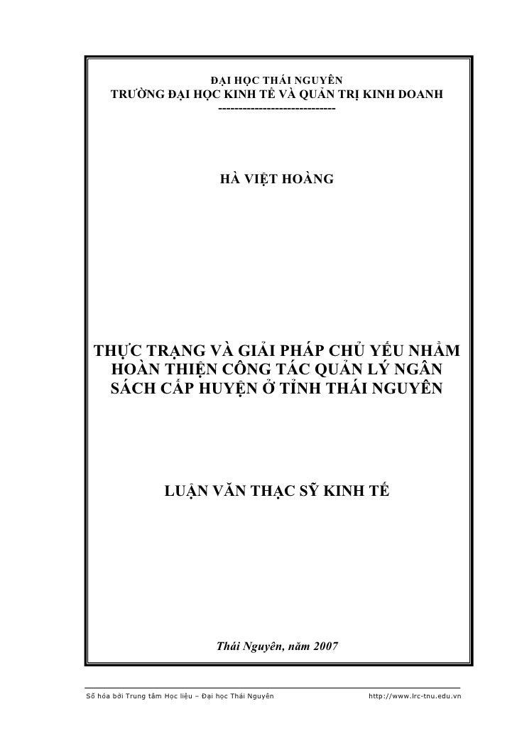 ĐẠI HỌC THÁI NGUYÊN      TRƯỜNG ĐẠI HỌC KINH TẾ VÀ QUẢN TRỊ KINH DOANH                    -----------------------------   ...