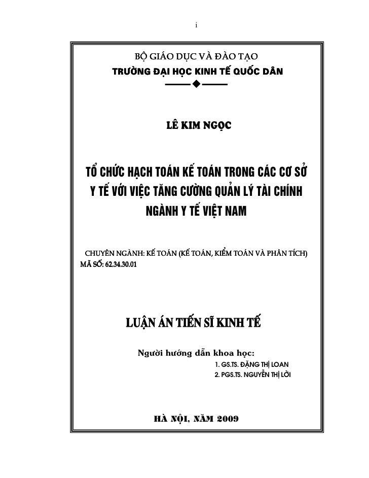 i             Bé gi¸o dôc vµ ®µo t¹o       Tr−êng ®¹i häc kinh tÕ quèc d©n                     L£ KIM NGäC Tæ CHøC H¹CH TO...