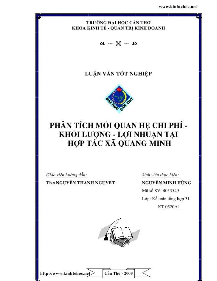 www.kinhtehoc.net                   TRƯỜNG ĐẠI HỌC CẦN THƠ               KHOA KINH TẾ - QUẢN TRN KINH DOANH               ...