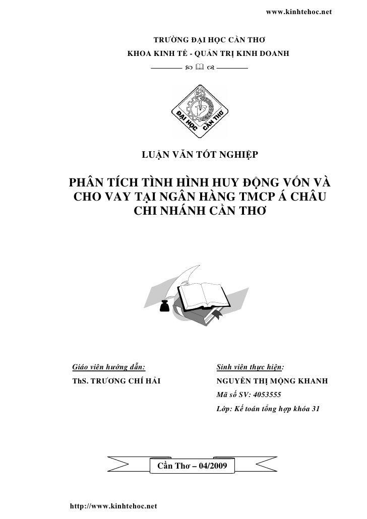 www.kinhtehoc.net                       TRƯ NG         I H C C N THƠ               KHOA KINH T - QU N TR KINH DOANH       ...