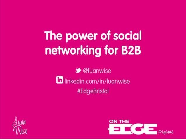 Luan Wise - OTE Bristol - Social Networking B2B