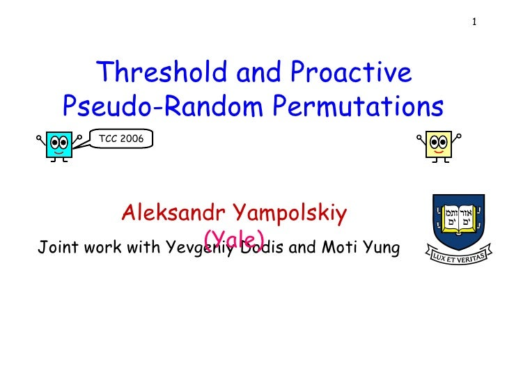 Threshold and Proactive Pseudo-Random Permutations