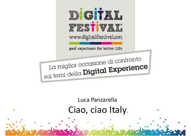 Luca Panzarella - Ciao, ciao italy - Digital for Job