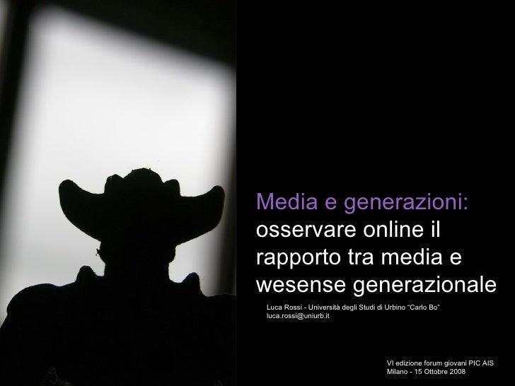 Forum Giovani Ais Vi Edizione Luca Rossi