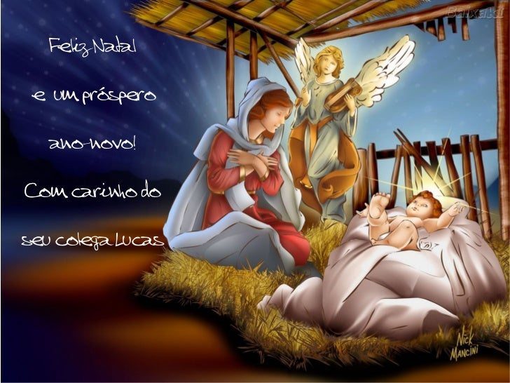 Feliz Natal e  um próspero ano-novo! Com carinho do seu colega Lucas