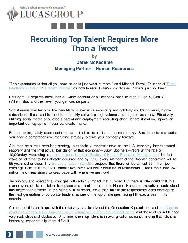 Recruiting Top Talent Requires More Than a Tweet