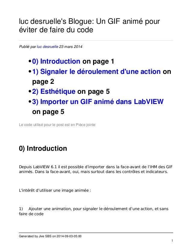Generated by Jive SBS on 2014-09-03-05:00  1  luc desruelle's Blogue: Un GIF animé pour  éviter de faire du code  Publié p...