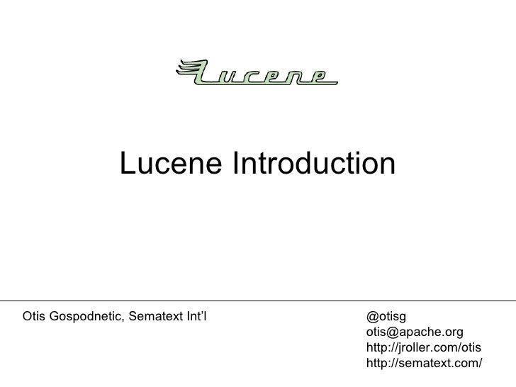 Lucene Introduction