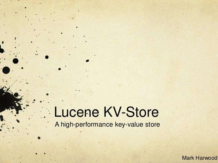 Lucene KV-Store