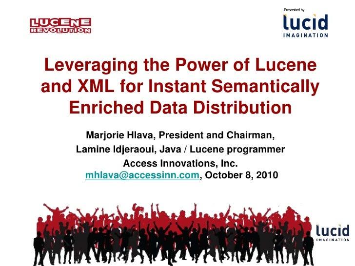Lucene revolution with Data Harmony