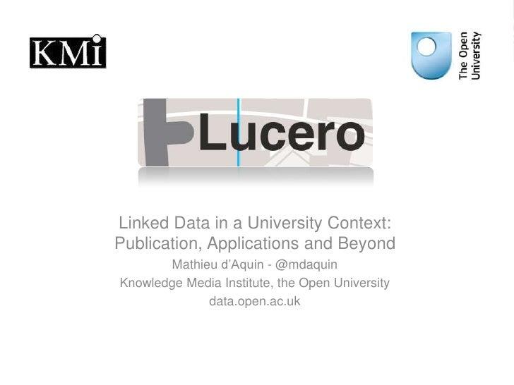 Presentation of LUCERO at EURECOM