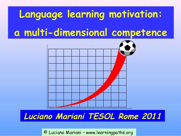 Language learning motivation:a multi-dimensional competence Luciano Mariani TESOL Rome 2011     © Luciano Mariani – www.le...