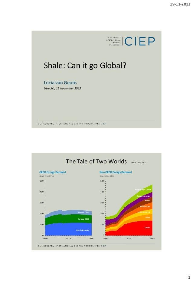 FEX | Industrie & Energie | 131112 | Conferentie Schaliegas & Olie | Presentatie | Lucia van Geuns