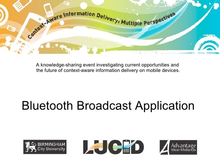 LUCID demonstrator: Bluetooth push demo