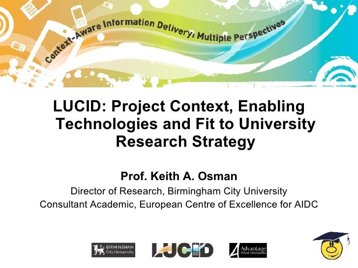 LUCID project context - Professor Keith Osman