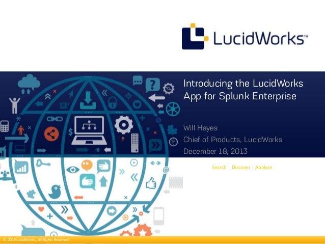 Introducing LucidWorks App for Splunk Enterprise webinar