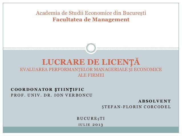 Presentation of Bachelor Degree Thesis (Romanian)
