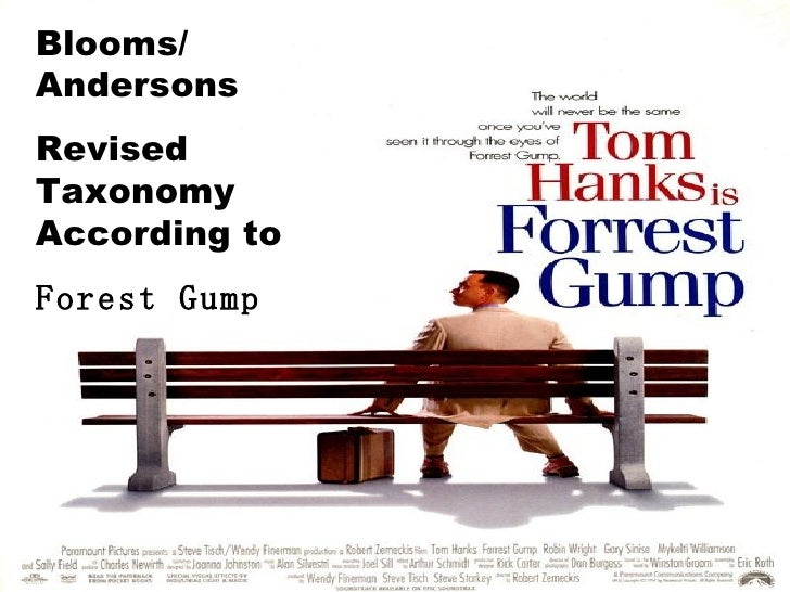 Blooms/ Andersons Revised Taxonomy According to  Forest Gump