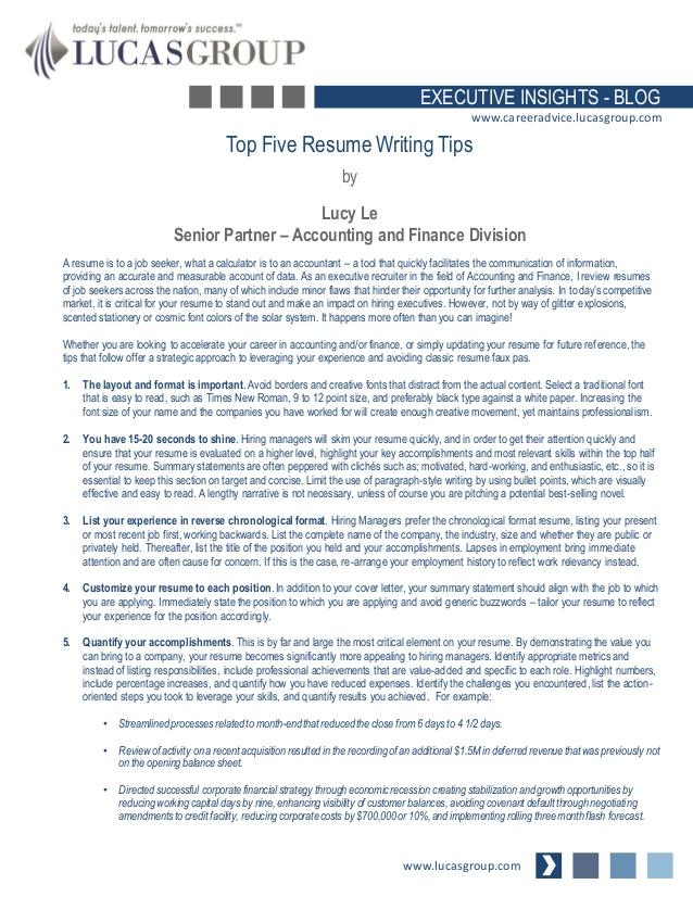 top five resume writing tips resume writing group 3312
