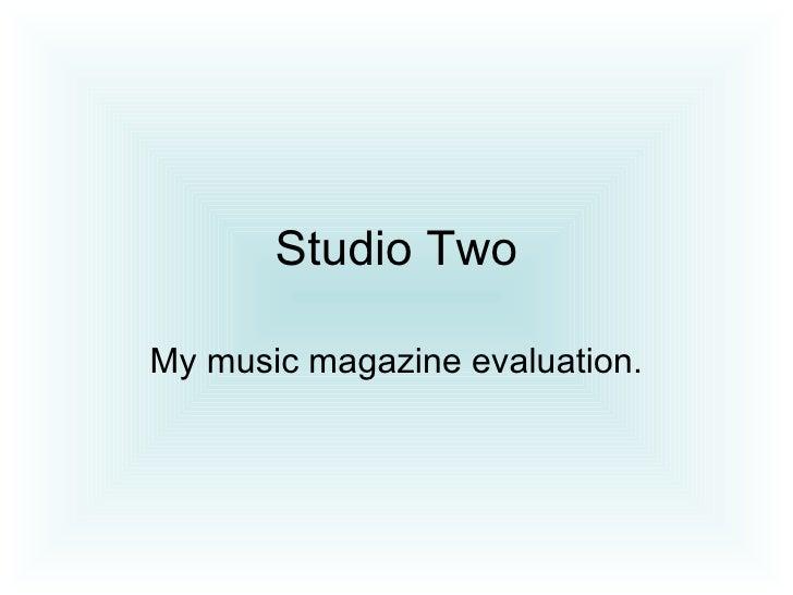 Lucy Studio Two Magazine Evaluation