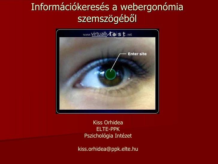 Információkeresés a webergonómia szemszögéből